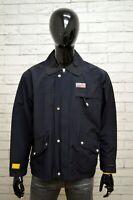 Giubbino RIFLE MILLS Uomo Taglia Size 50 Giubbotto Giacca Jacket Bomber Man Blu