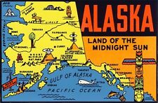 Vintage Travel Decal Replica Window Cling - Alaska