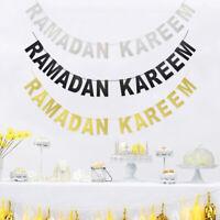 Eid Mubarak Ramadan Kareem  Paper Bunting  Home Wall Hanging Decor