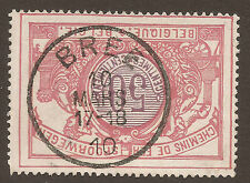 Trains, Railroads Single Belgian & Colonies Stamps