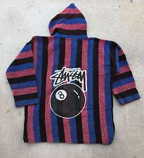 Vintage 90's Stussy 8 Ball Baja Pullover Hoodie eight ball