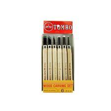 6pc Hinomaru Tombo Japanese Wood Carving Tools Knife Set