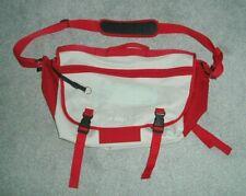 PLAIN LAZY SHOULDER BAG BEIGE & RED OVERNIGHT / MESSENGER / SPORTS / GYM