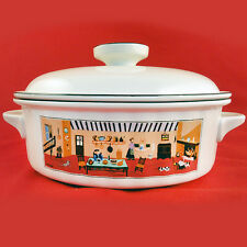 "NAIF DESIGN Covered CASSEROLE 7"" Villeroy & Boch NEW NEVER USED Country Kitchen"