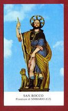 SANTINO - HOLY CARD- IMAGE PIEUSE -SAN ROCCO Protetore di  SIMBARIO (CZ)