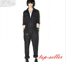 Fashion Men's Personalized jumpsuit overalls Overalls Harlan Trousers Black New