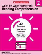 Week by Week Reading Comprehension Homework - 4th Grade - Brand New!!!