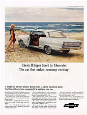 Vintage 1965 Magazine Ad Chevrolet Chevy II Super Sport Makes Economy Exciting