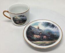 Thomas Kinkade Painter Of Light Moonlight Cottage Cup & Saucer Teleflora Gift