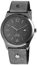 Akzent Herrenuhr in Grau Datumsanzeige 3ATM Armbanduhr  SA541