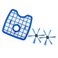 1x Filter + 2x Brush For Philips FC8820 8810 8812 8832 8932 Robot Vacuum Cleaner