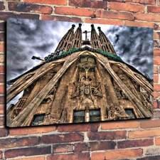 "La Sagrada Familia Lona Impresa Foto A1.30""x20""30mm profunda Barcelona Gaudi."
