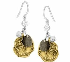 Cz Perfect Composition Earrings W3146 Silpada Sterling Silver Brass Pyrite