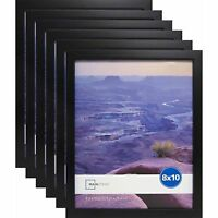 """Photo Frame Set Of 6 8x10"""" Format Lot Wall Art Home Decor Black Picture Frames"""