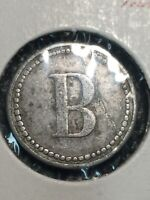 Token, B, Good For 5 Cents Trade Collectable Vintage Old Coin T02
