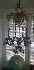 Art Nouveau cast Bronze Light Fixture Lamp for Loetz or Tiffany Art Glass Shades