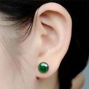 Fashion Women Girl Agate Gemstone Stud Earrings Jewellery Gift T