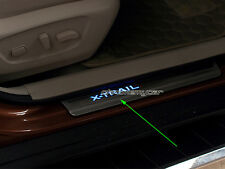 4 illuminated Blue LED Kick Door Scuff Sill Plates for Nissan X-trail T32 14-18