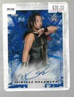2018 Topps WWE Shinsuke Nakamura Autograph 20/50