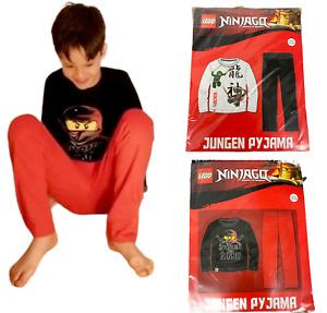 NEW boys kids LEGO ninjago ninja long sleeve top trousers pyjamas pjs pj's set