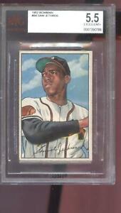 1952 Bowman #84 Sam Jethroe Boston Braves BGS BVG 5.5 Graded Baseball Card