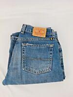 Lucky Brand Women's Regular Inseam Mid Rise Wide Leg Cut Blue Jeans Sz 6/28