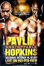 Original Vintage Bernard Hopkins vs. Kelly Pavlik Boxing Fight Poster