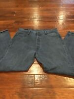 Levis 501 XX Jeans Black Stamped Pocket 38x34 Red Tab Levi Strauss Riveted