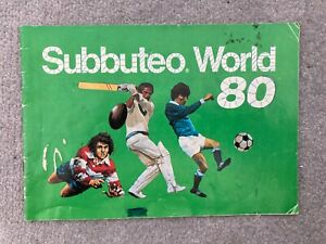 Subbuteo World 80 Brochure Catalogue Vintage retro