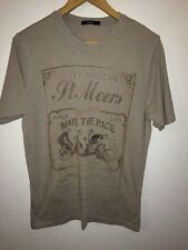 George T SHIRT TOP VINTAGE Allumettes Logo Homme Taille S < R5681