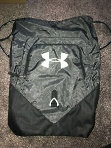 Under Armour Undeniable Sackpack Drawstring Gym Bag (Gray/ Green) NEW