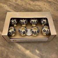 New In The Box Casa Decor Set Of 8 Drawer Pulls Ceramic And Gold