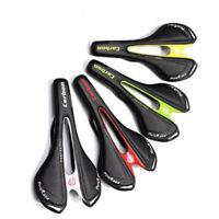 Carbon Fiber Road Bike Saddle MTB Seat Soft Breathable Leather Racing Seats