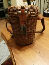 Antique Miniture Wovern Fisherman Basket