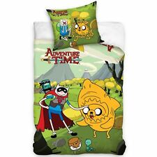 ADVENTURE TIME UK SINGLE / US TWIN UNFILLED DUVET COVER & PILLOWCASE SET NEW
