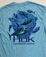 NEW HUK Men's KC Scott Short Sleeve Performance Fishing T-Shirt Size Small