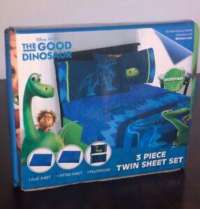 Disney Pixar The Good Dinosaur 3 Piece Twin Sheet Set- NIP