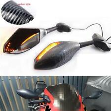 Motorcycle LED Turn Signal Mirrors for Kawasaki Ninja ZX6R ZX9R ZX10R 12R ZX14R