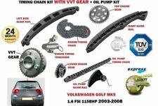 FOR VW GOLF 1.6 FSI BAG BLF BLP 115bhp 2003-2008 TIMING CHAIN KIT + VVT GEAR