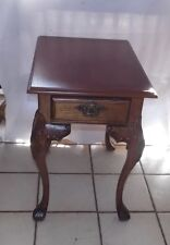 Oak End Table / Side Table with Drawer by Lane  (T543)