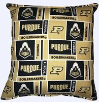 University Purdue Pillow Football Pillow Boilermakers Pillow NCAA HANDMADE USA