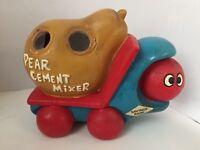 Vintage Pear Cement Mixer Coin Savings Bank -  MV - Made in Japan - RARE