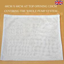 Filtre Sac de votre Pompe De Bassin –60 cm X 60 Cm Filtre Mesh Bouclier réduire colmatage £ 7.99