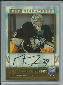 2006-07 Marc Andre Fleury UD Be a Player Hockey Signatures Autograph Card -Vegas