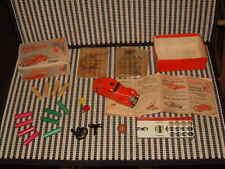 SCHUCO TELESTEERING CAR 3000 RED W/PILLARS, KEY, BALL, CABLES,WHEEL,TAGS & BOX