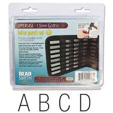 Arial/Gothic Upper Case Letter Stamp Set 1.5mm 27pcs