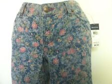 "Ralph Lauren Girls Jeans ""RL Bowery Skinny"" 5 Pocket Floral Print Size 14 NWT"