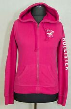 WOMENS HOLLISTER HOODY ZIP SIZE L ( LABEL M) GC