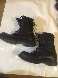 Cold Weather Combat Boots 10.5 W Mens Gore-Tex Black Leather Boots Military