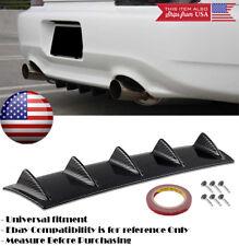 "23"" x 6"" Gloss Carbon Rear Bumper Valance Diffuser 5 Shark Fins For Honda Acura"